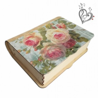 Musical wooden creative box to order, for painting, crafts, with your own hands