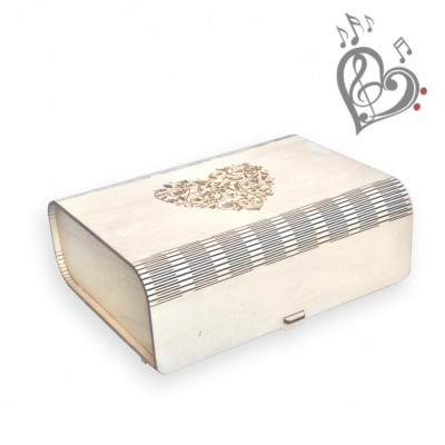 Wooden music box I love you - to order with my melody