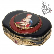 Musical casket - Dama con l'ermellino jewelry box - with your sound
