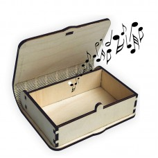 "Music box ""Happy Birthday"" with its own melody"
