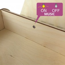 "Musical wooden ""CREATIVE BOX"" to order-with its own melody"