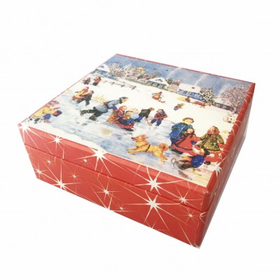 Christmas gift wrapping with music. Music box