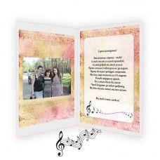 "Handmade music card ""Meet to you"""