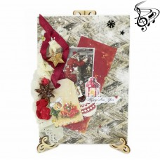 "Musical Christmas author's card ""SECRET OF SANTA"""