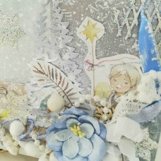 "Musical Christmas author's card ""MORNING ANGEL"""