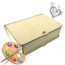 "Musical wooden ""MAGIC CASKET"" for creativity - with its own melody"