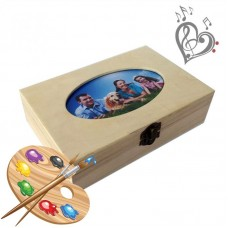 "Box for creativity with a photo ""CUTE GIFT"" with your music"