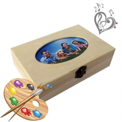 """Box """"Cute gift"""" for creativity, needlework, hand-made articles, painting, coloring"""
