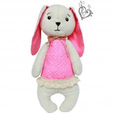 "Author's musical soft toy ""Baby rosette"" with YOUR SOUND, 25 cm"