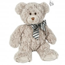 "Musical soft toy ""Bear Gray"" with YOUR SOUND, 20 cm"